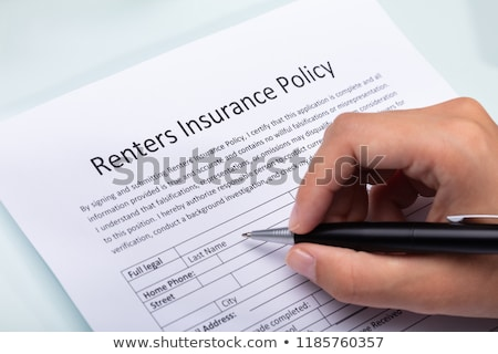 Person Filling Renters Insurance Policy Form Stock photo © AndreyPopov