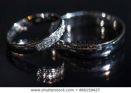 Wedding day details - two lovely wedding rings awaiting their moment Stock photo © lightpoet
