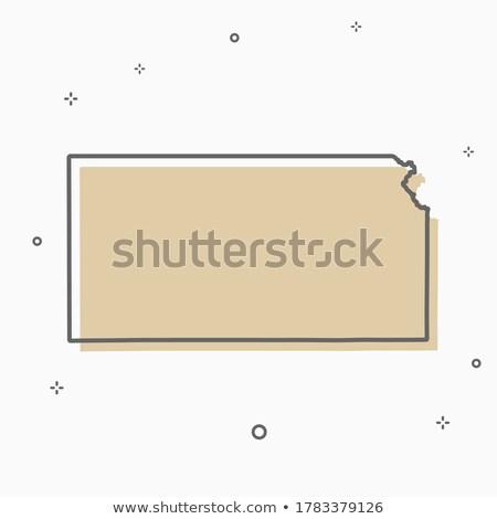 map of the kansas state vector illustration design element flat style design icon stock photo © kyryloff