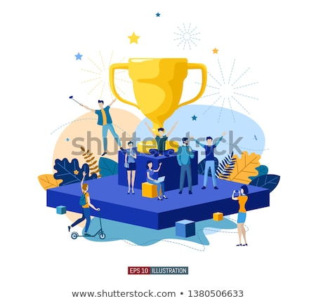 Champion Trophy Best Ever Vector Illustration Stock photo © robuart