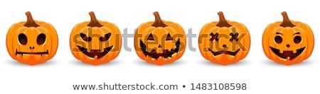 Smiling Cartoon Pumpkin Stock photo © blamb