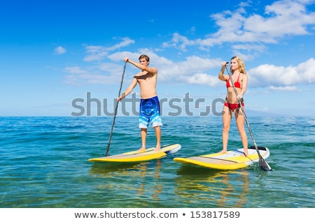sup stand up paddle board concept stock photo © lightpoet
