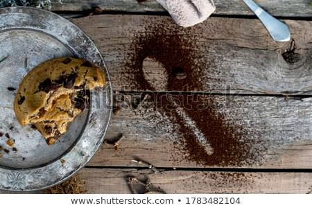 Aveia bolinhos vintage velho prato natureza morta Foto stock © Valeriy