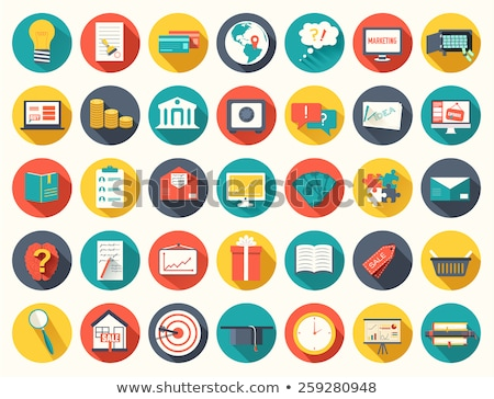 Duży kolekcja działalności edukacji online szkolenia Zdjęcia stock © Linetale