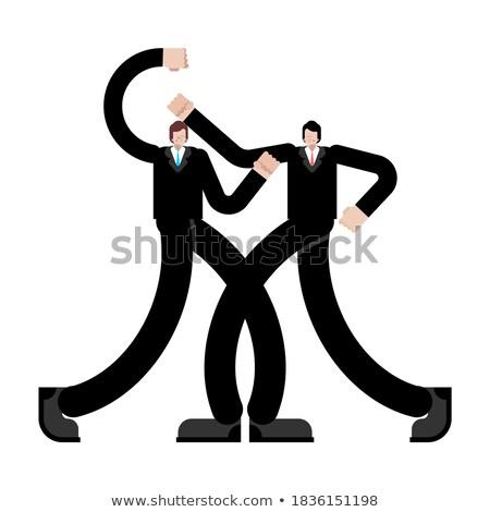 2 ビジネスマン スーツ 戦う ボクシンググローブ ベクトル ストックフォト © pikepicture