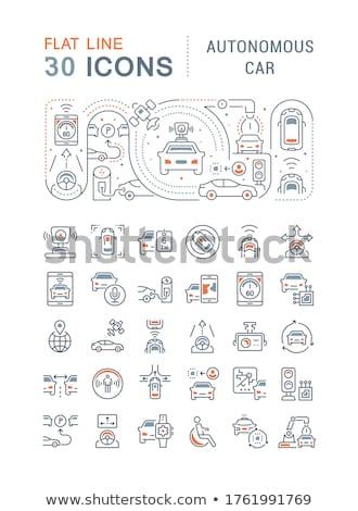 Navegación moderna línea diseno estilo blanco Foto stock © Decorwithme