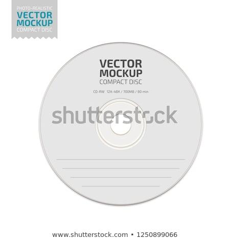Stock fotó: Vektor · CD · borító · vázlat · fehér · papír