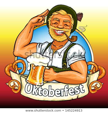 Oktoberfest German old man with beer Stock photo © rogistok
