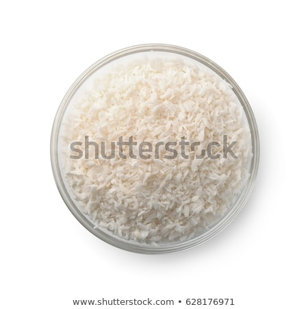 Kom kokosnoot meel witte vers room Stockfoto © Alex9500