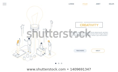 Creativity concept - modern isometric vector website header Stock photo © Decorwithme