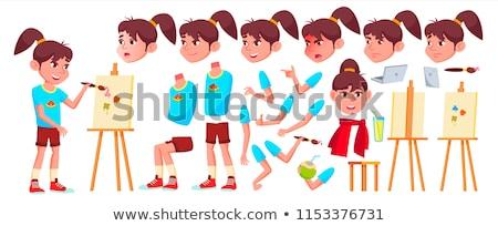девушки · школьница · Kid · вектора · школу · ребенка - Сток-фото © pikepicture