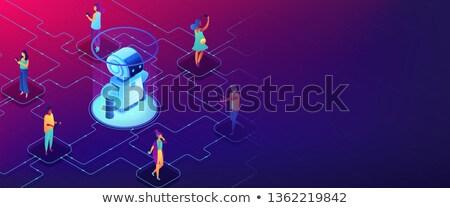 Interacción vector ilustración enorme robot Foto stock © RAStudio