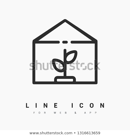 Greenhouse Conservatory Icons Vector Illustration Stock photo © robuart