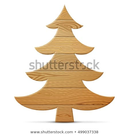 Christmas Tree Sign Board Spruce Icon Stock photo © robuart