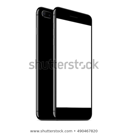 mock up smartphone new modern phone with camera cutout phone blank screen stock photo © aisberg