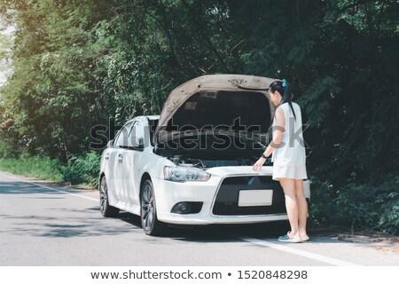 Giovani donne open auto rotta strada viaggio trasporto Foto d'archivio © dolgachov