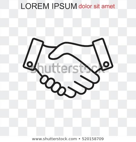 Aperto de mão ícone símbolo colaboração acordo Foto stock © robuart