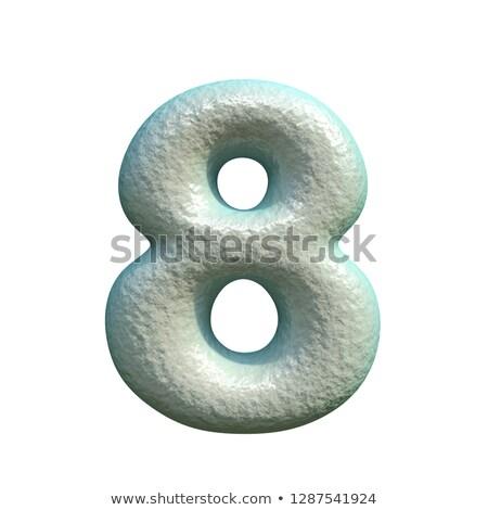 Szürke kék agyag szám nyolc 3D Stock fotó © djmilic