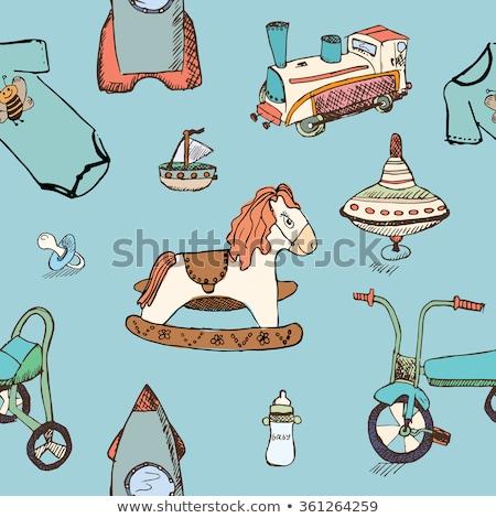 Speelgoed model schip schets doodle Stockfoto © RAStudio