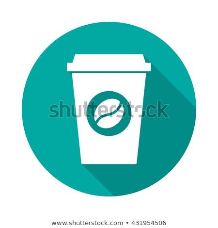 Taza de café icono diseno estilo café papel Foto stock © Natali_Brill