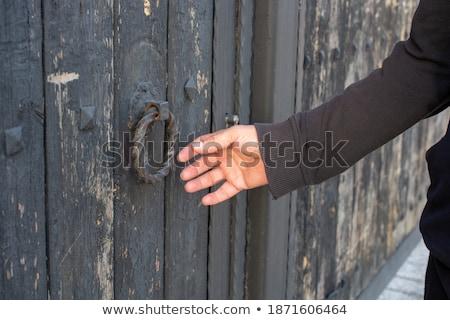 El antika kapı işlemek ahşap ev Stok fotoğraf © galitskaya