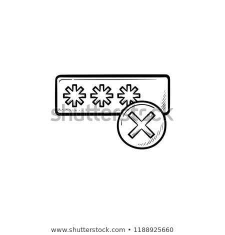 Stock fotó: Entering Login And Fail Hand Drawn Outline Doodle Icon