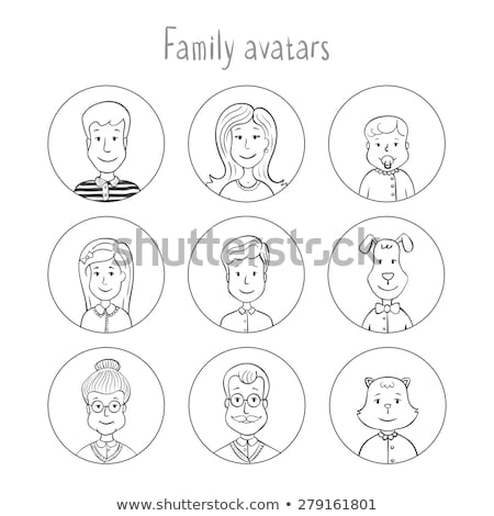 Doodle famille membre illustration bébé enfants Photo stock © colematt