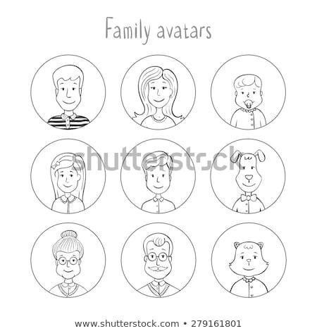 doodle of family member stock photo © colematt