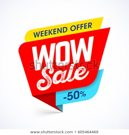 Super Sale Special Offer Up to 50 Percent Off Tag Stock photo © robuart