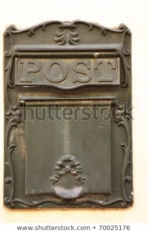 eski · eski · posta · kutusu · duvar · kahverengi · iletişim - stok fotoğraf © dariazu