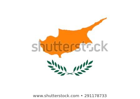 キプロス フラグ 白 ビッグ セット 中心 ストックフォト © butenkow