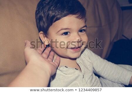 Cabelo castanho ilustração fundo arte menino Foto stock © bluering
