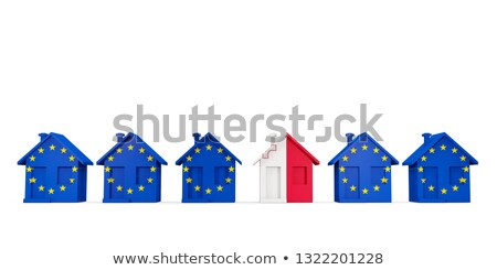 House with flag of malta in a row of EU flags Stock photo © MikhailMishchenko