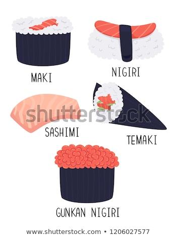 Sushi Types Illustration Stock photo © lenm