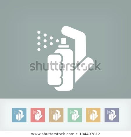 Poivre spray icône couleur design fond Photo stock © angelp