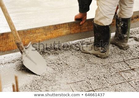 ワーカー セメント 木製 フロート 建設現場 建設 ストックフォト © feverpitch