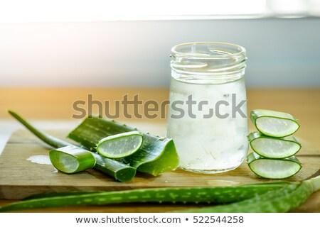 Vidrio saludable aloe beber de moda Foto stock © furmanphoto