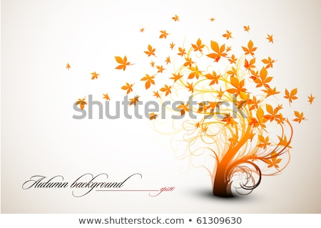autumnal plants in abstract design fall bushes stock photo © robuart