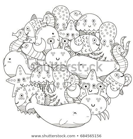 sok · tenger · teremtmények · illusztráció · háttér · cápa - stock fotó © colematt
