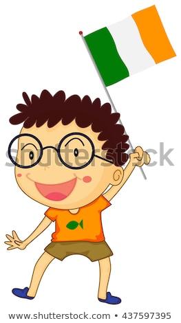 Nino Irlanda bandera ilustración nino Foto stock © colematt