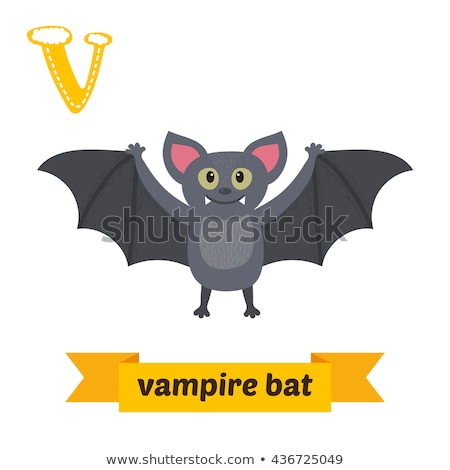 cute bat halloween vampire animal cartoon stock photo © krisdog
