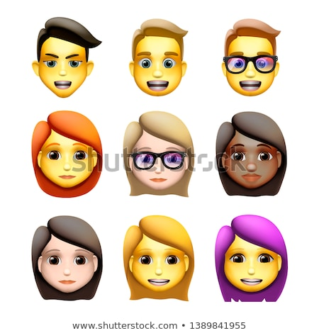 Characters avatars in cartoon style, emoji icons, animoji, vector illustration. Stock photo © ikopylov
