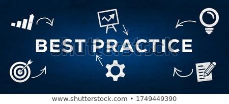 Сток-фото: компас · текста · иконки · лучший · практика · бизнеса