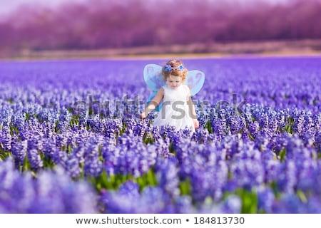Portré imádnivaló kisgyerek lány mágikus tündér Stock fotó © ElenaBatkova