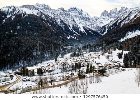 San Martino di Castrozza resort at daylight Stock photo © frimufilms