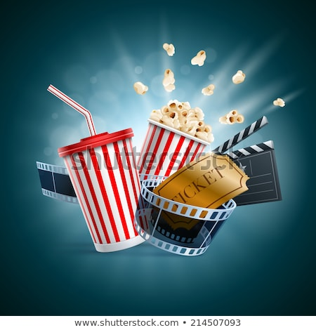 ticket · film · grafisch · ontwerp · sjabloon · vector · film - stockfoto © haris99