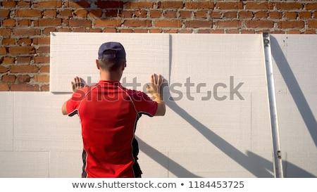 Isolamento parede edifício construção projeto Foto stock © simazoran