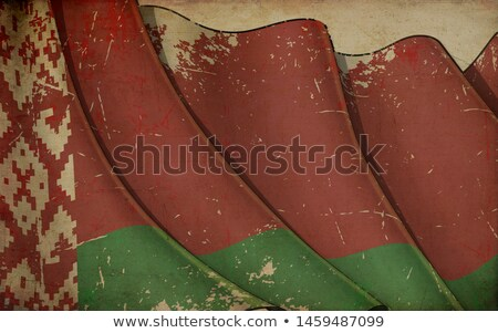 banner · Wit-Rusland · textuur · achtergrond · Rood · witte - stockfoto © nazlisart