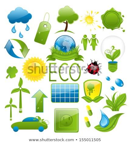 alternative eco friendly car stamp Stock photo © szsz