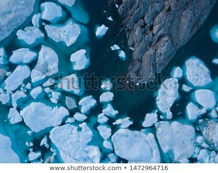 Арктика природы пейзаж антенна изображение полночь Сток-фото © Maridav